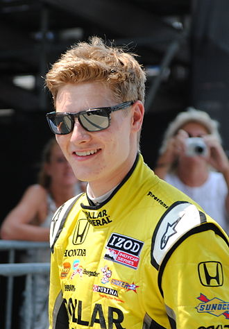 American open wheel car racing - Josef Newgarden, the reigning National Champion.
