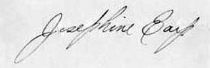 Josephine Earp - Image: Josephine Earp signature