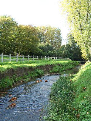 Jouy-en-Josas - The river Bièvre passing through Jouy