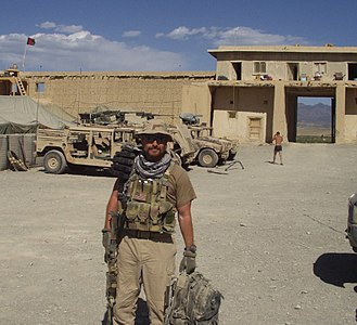 Academi - Blackwater employee Jamie Smith along Pakistani border in Afghanistan in 2002