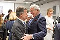 Juan Manuel Santos, President, Republic of Colombia and Sir John Major, President; Chair, Panel of Senior Advisers, Chatham House (24671701408).jpg