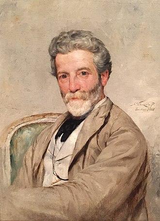 Juan Mochi - Juan Mochi; portrait by Alfredo Valenzuela Puelma (1885)
