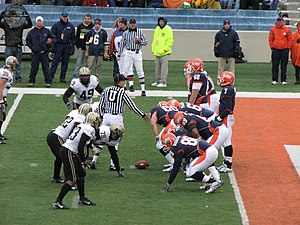 Isiah Williams - Juice lining up against Purdue on November 11, 2006