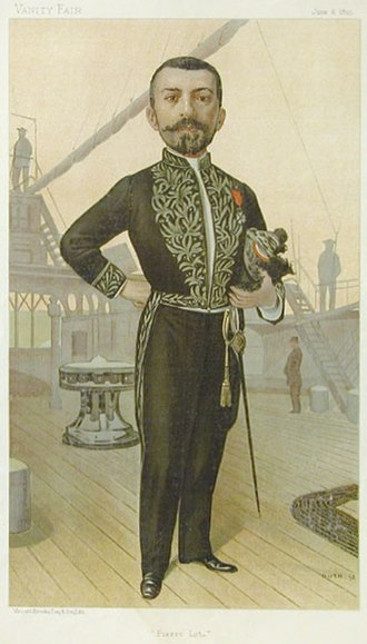 Pierre Loti - Loti caricatured by Guth for Vanity Fair, 1895