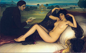 Julio Romero de Torres - Venus of Poetry by Julio Romero de Torres, painted in 1913.
