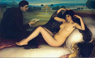 Julio Romero de Torres - Venus of Poetry by Julio Romero de Torres, painted in 1913.