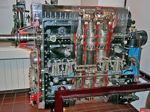 Aircraft diesel engine - Jumo 205 opposed-piston engine, sectioned
