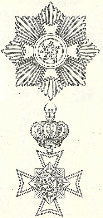 Wilhelmsorden - Star and badge of the Wilhelmsorden of Hessen-Kassel