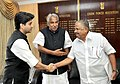 Jyotiraditya Madhavrao Scindia with the Chief Minister of Kerala, Shri Oommen Chandy and the Minister for Power and Transport of Kerala, Shri Aryadan Mohammed, in New Delhi on November 23, 2012.jpg