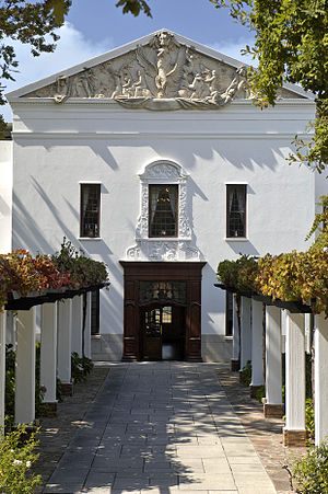 KWV South Africa (Pty) LTD - The entrance to La Concorde, KWV Head Office in Paarl, South Africa