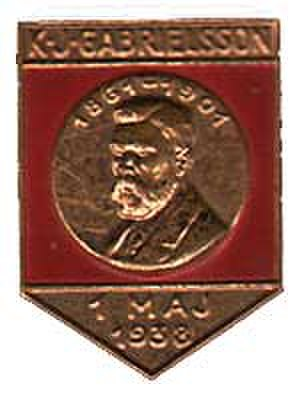 K. J. Gabrielsson - A medal depicting Karl Johan Gabrielsson.