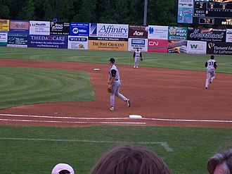 Kane County Cougars - Kane County Cougars, playing the Wisconsin Timber Rattlers at Fox Cities Stadium on June 9, 2006.