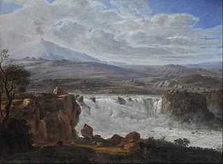 The Caracci Waterfall Near Aderno at the Foot of Mt. Etna