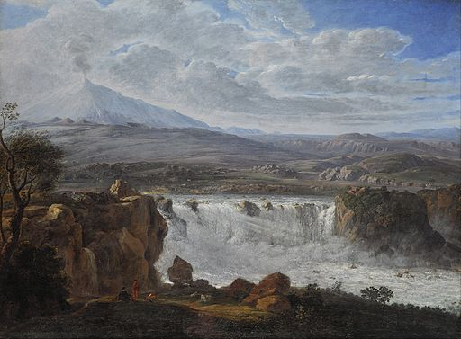 Karl Gothard Grass - The Caracci Waterfall Near Aderno at the Foot of Mt. Etna - Google Art Project