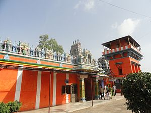 Karmanghat Hanuman Temple - Image: Karmanghat Hanuman Temple, Hyderabad