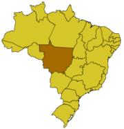 Karte von Brasilien mit Bundesstaat Mato Grosso