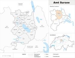 Location of Sursee District
