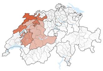 Espace Mittelland - Image: Karte Espace Mittelland 2013.2