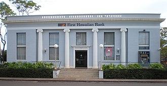 Bishop National Bank of Hawaii - Image: Kauai Waimea Bishop Bank bldg