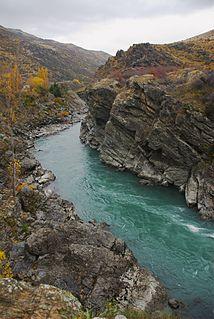 Kawarau Gorge canyon in New Zealand