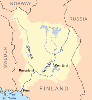 Kemijoki - Map of the Kemijoki basin
