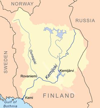 Kemijoki - Map of the Kemijoki basin