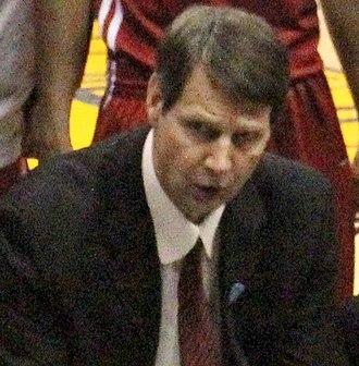 Ken Bone - Bone coaches Washington State during the 2011 Pacific-10 Conference Men's Basketball Tournament.