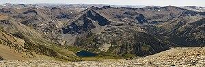 Leavitt Peak - The view south from the summit of Leavitt Peak. Emigrant Wilderness, Eastern Sierra Nevadas