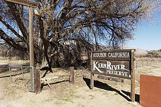 Kern River Preserve - Entrance from SR 178