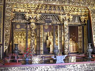 Khoo Kongsi - Altar with ancestral tablets