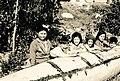 Kids by canoe - Dene - La Loche Sask 1943.jpg
