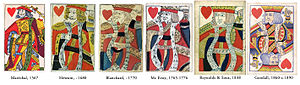 King (playing card) - Evolution of the King of Hearts in the Rouennais pattern