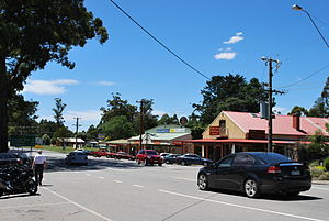 Kinglake, Victoria - Main street of Kinglake prior to the bushfire of 7 February 2009