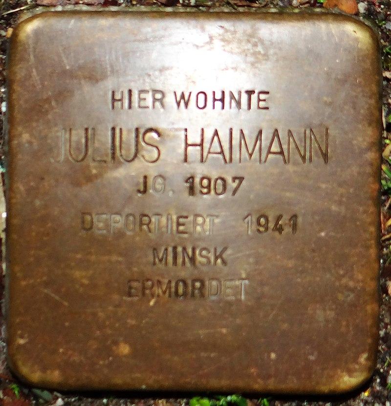 Kirchberg im Hunsrück Stolperstein Kappeler Straße 3 Julius Haimann.jpg