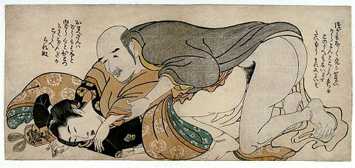 kitagawa utamaro hairdressing. ett par herrar, den ene en trolig skådespelare, omkring 1802 kitagawa utamaro hairdressing i