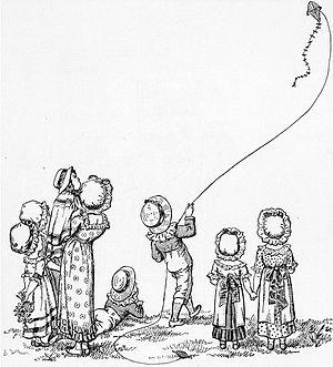 Kite Flying Illustration