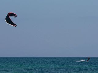 Kitesurfing at Punta Paloma Beach, Tarifa, Spain