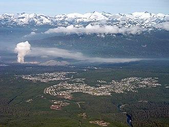 Kitimat Ranges - The Kitimat Ranges, rising behind Kitimat, British Columbia