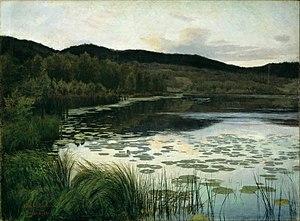 Kitty Lange Kielland - Sommernatt, 1886