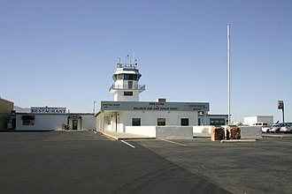 Mojave Air and Space Port - Administration offices, restaurant and old tower