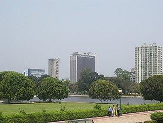 Kolkata - Kolkata skyline from Chowringhee