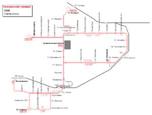 Трамвай схема коломна