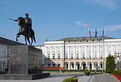 Widok od Krakowskiego Przedmieścia