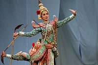 Korea-Andong-Hahoe Folk Village-Thai dancer-01.jpg