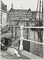 Koste Spaarne. Werkzaamheden aan de brugleuning van de Kortebrug. NL-HlmNHA 54021105.JPG