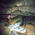 Križna jama Ponor Outflow 1973.jpg