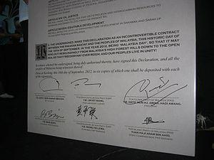 Kuching Declaration - Signed of the Kuching Declaration