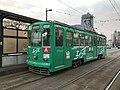 Kumamoto City Tramcar at Giombashi Station.jpg