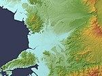 Kumamoto Plain Relief Map, SRTM-1.jpg