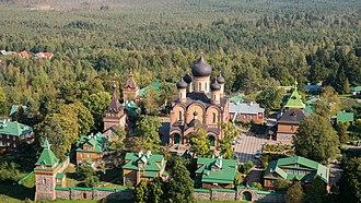 Pühtitsa Convent - A bird's-eye view of the monastery grounds